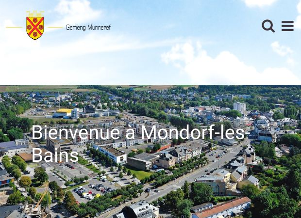 Screenshot: Homepage Gemeinde Bad Mondorf