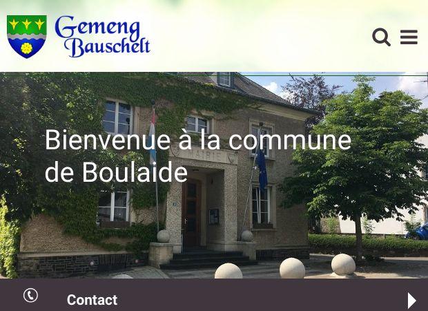 Screenshot: Homepage Gemeinde Bauschleiden