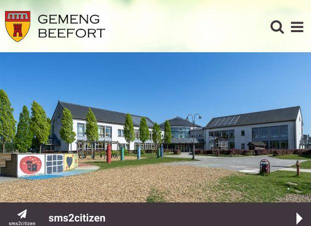 Screenshot: Homepage Gemeinde Befort