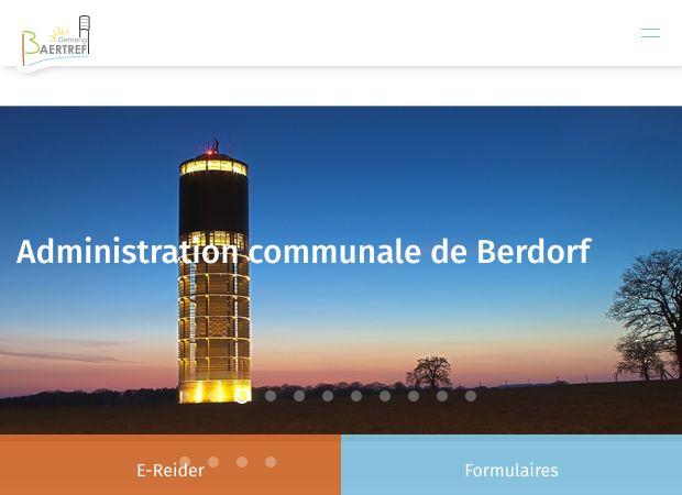 Screenshot: Homepage Gemeinde Berdorf