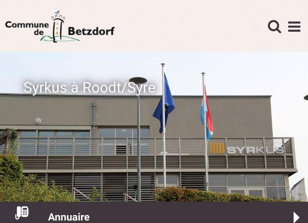 Screenshot: Homepage Gemeinde Betzdorf