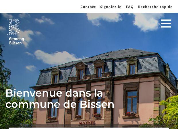 Screenshot: Homepage Gemeinde Bissen