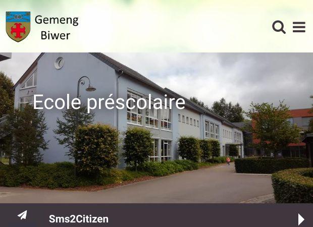 Screenshot: Homepage Gemeinde Biwer