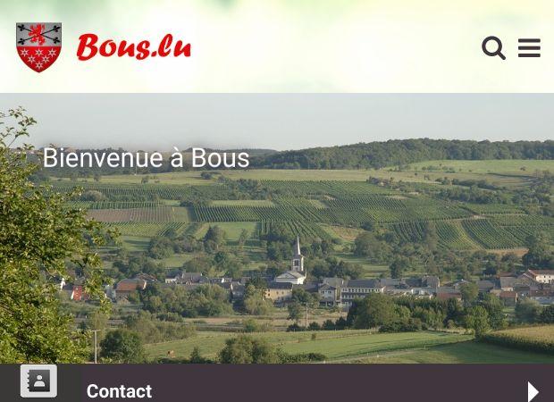 Screenshot: Homepage Gemeinde Bous