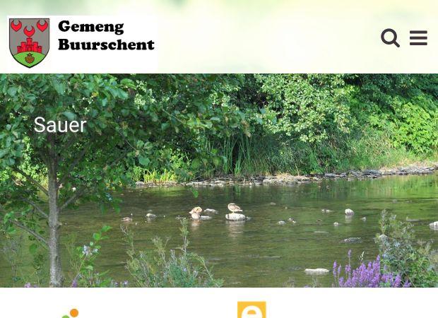 Screenshot: Homepage Gemeinde Burscheid