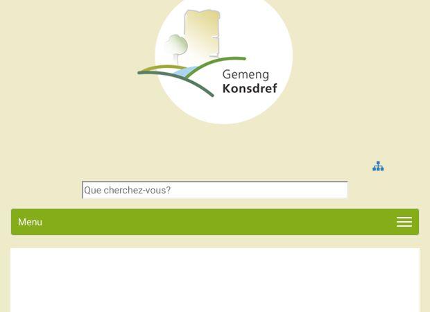 Screenshot: Homepage Gemeinde Consdorf
