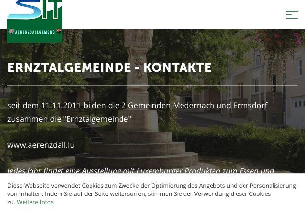 Screenshot: Homepage Gemeinde Ernztalgemeinde