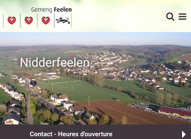 Screenshot: Homepage Gemeinde Feulen