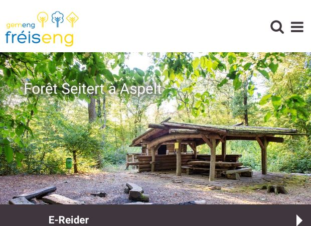Screenshot: Homepage Gemeinde Frisingen