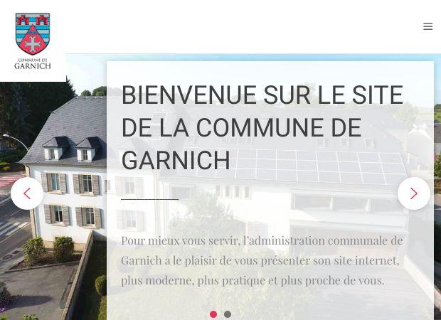 Screenshot: Homepage Gemeinde Garnich