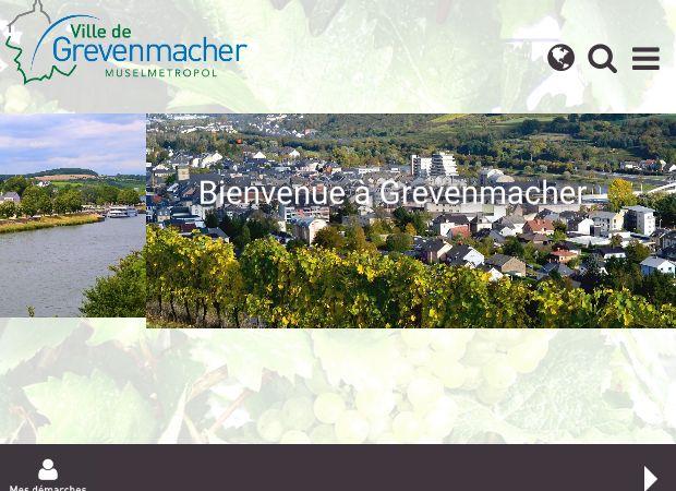 Screenshot: Homepage Stadt Grevenmacher