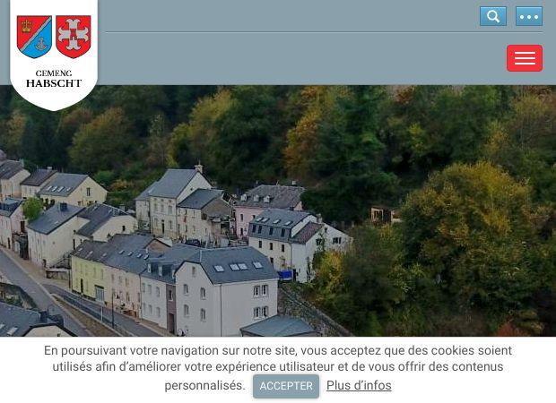 Screenshot: Homepage Gemeinde Habscht
