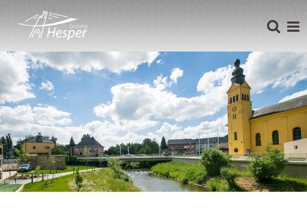 Screenshot: Homepage Gemeinde Hesperingen