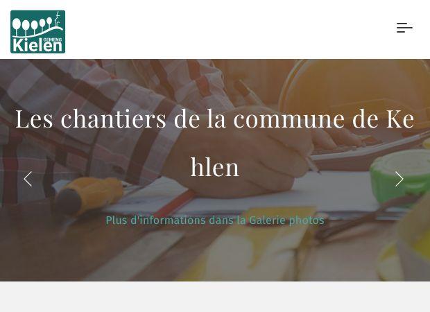 Screenshot: Homepage Gemeinde Kehlen