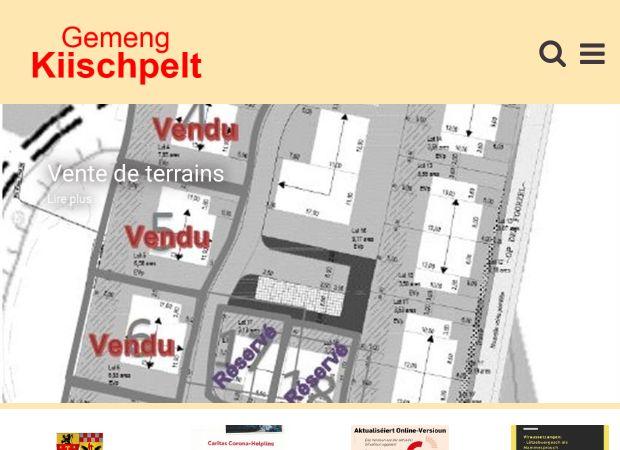 Screenshot: Homepage Gemeinde Kiischpelt