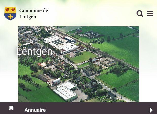 Screenshot: Homepage Gemeinde Lintgen