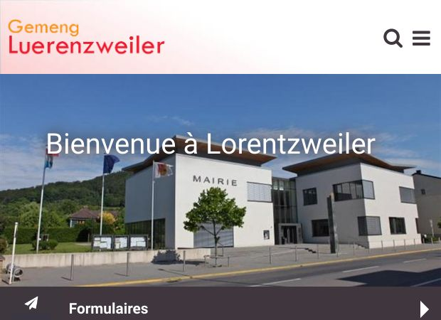 Screenshot: Homepage Gemeinde Lorentzweiler