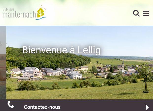 Screenshot: Homepage Gemeinde Manternach