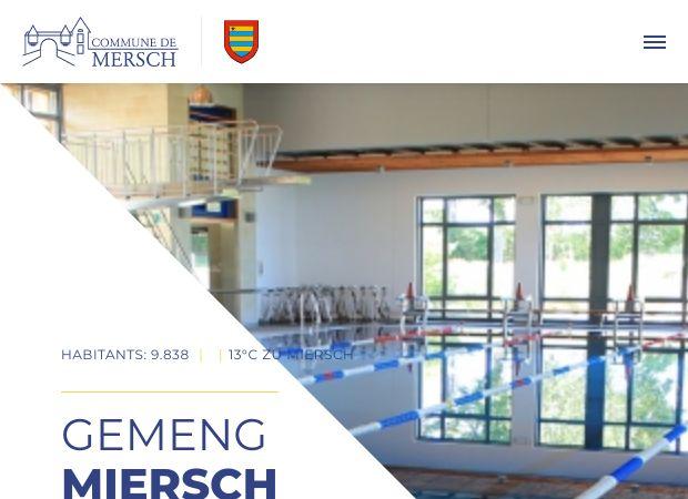 Screenshot: Homepage Gemeinde Mersch