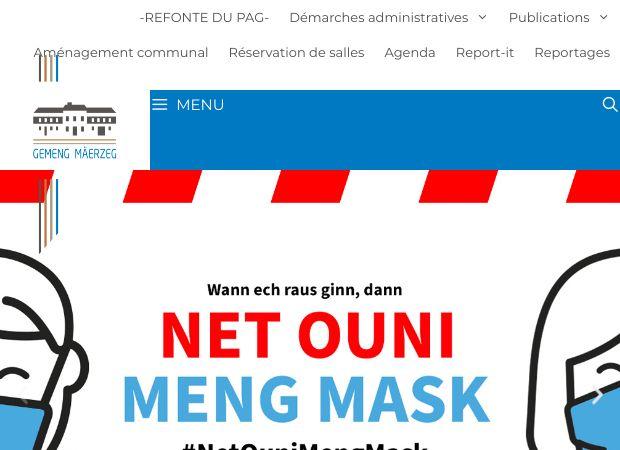 Screenshot: Homepage Gemeinde Mertzig