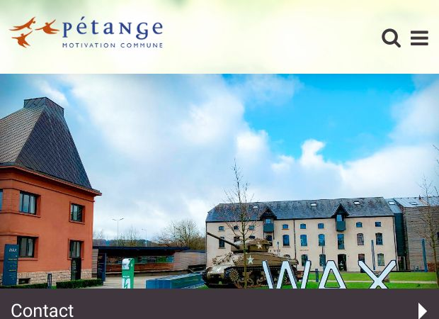 Screenshot: Homepage Gemeinde Petingen