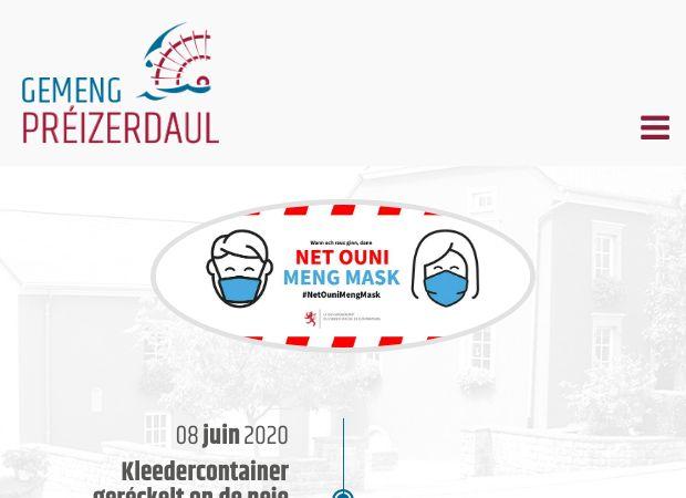 Screenshot: Homepage Gemeinde Préizerdaul