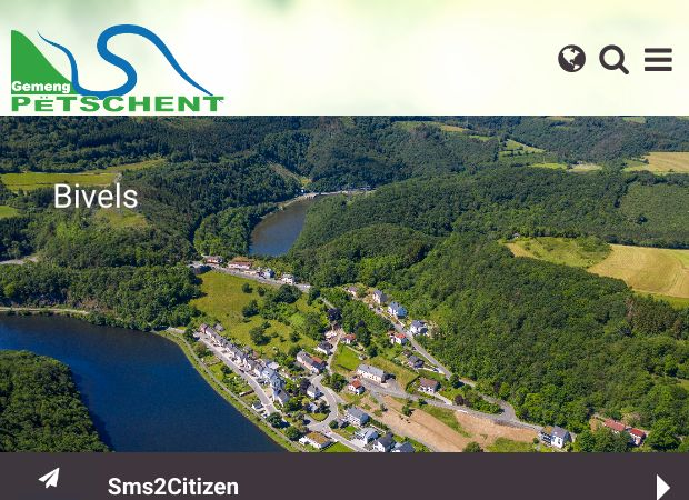 Screenshot: Homepage Gemeinde Pütscheid