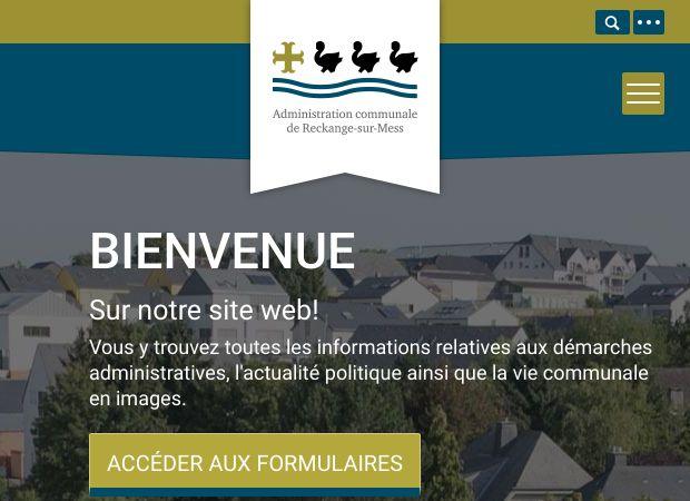 Screenshot: Homepage Gemeinde Reckingen/Mess