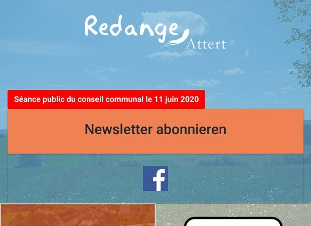 Screenshot: Homepage Gemeinde Redingen