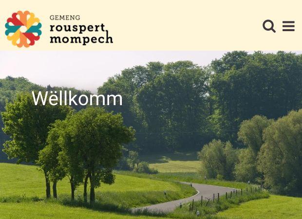 Screenshot: Homepage Gemeinde Rosport-Mompach