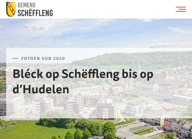 Screenshot: Homepage Gemeinde Schifflingen