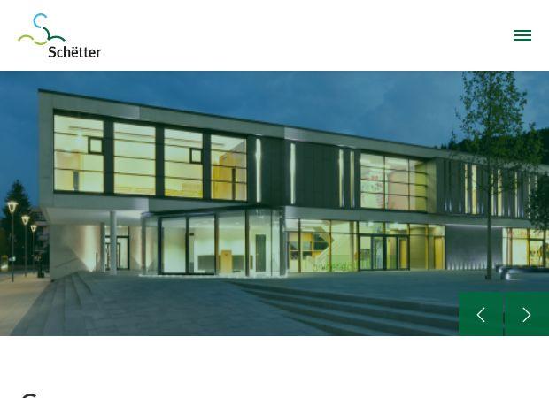 Screenshot: Homepage Gemeinde Schüttringen