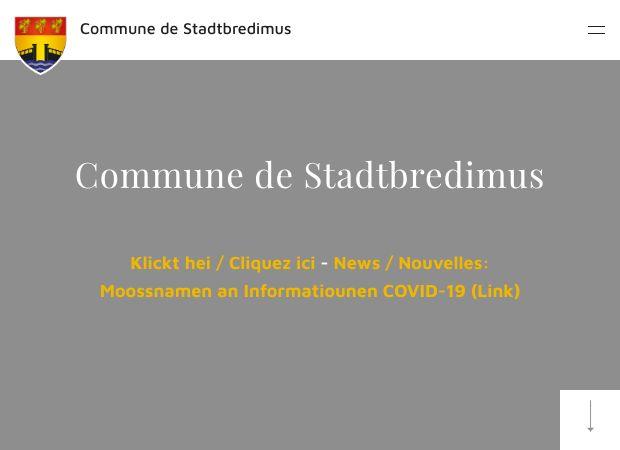 Screenshot: Homepage Gemeinde Stadtbredimus