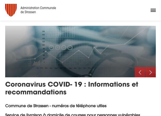 Screenshot: Homepage Gemeinde Strassen