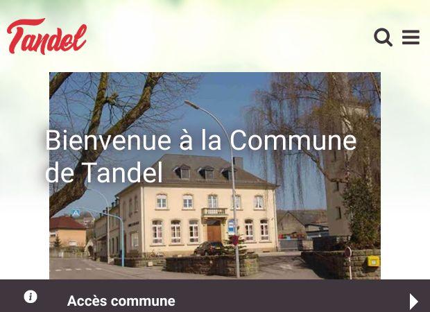 Screenshot: Homepage Gemeinde Tandel