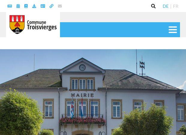 Screenshot: Homepage Gemeinde Ulflingen