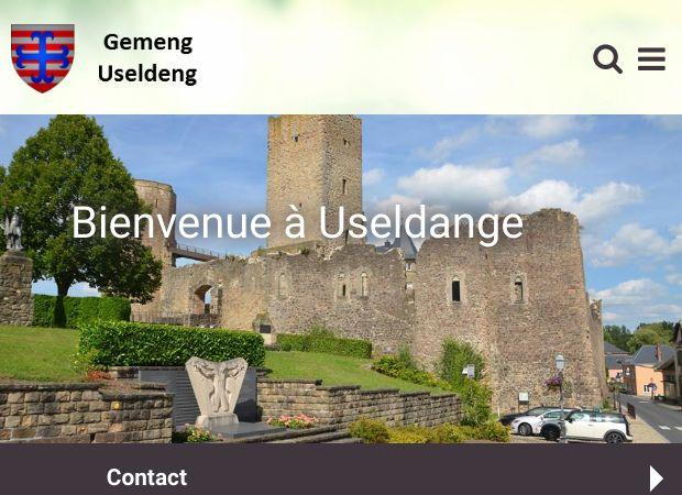 Screenshot: Homepage Gemeinde Useldingen
