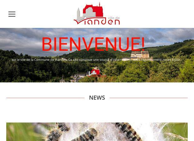 Screenshot: Homepage Stadt Vianden