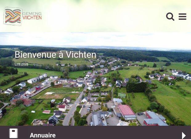 Screenshot: Homepage Gemeinde Vichten