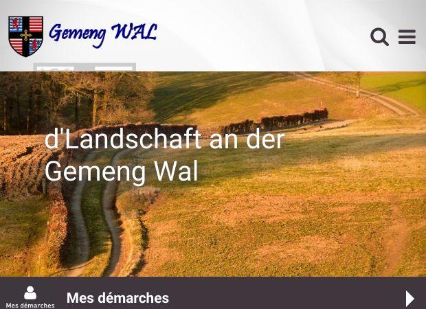 Screenshot: Homepage Gemeinde Wahl