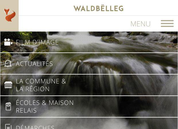 Screenshot: Homepage Gemeinde Waldbillig