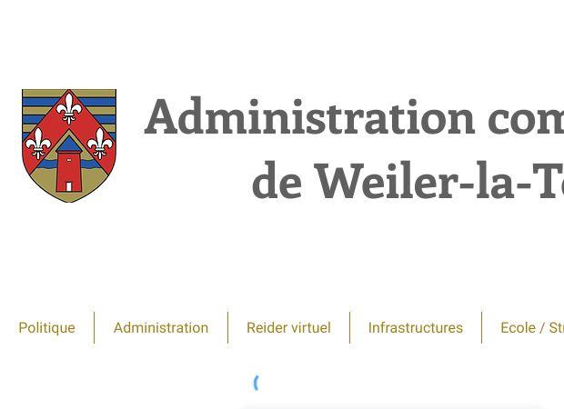 Screenshot: Homepage Gemeinde Weiler zum Turm