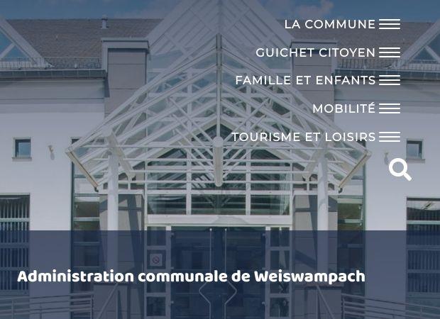 Screenshot: Homepage Gemeinde Weiswampach