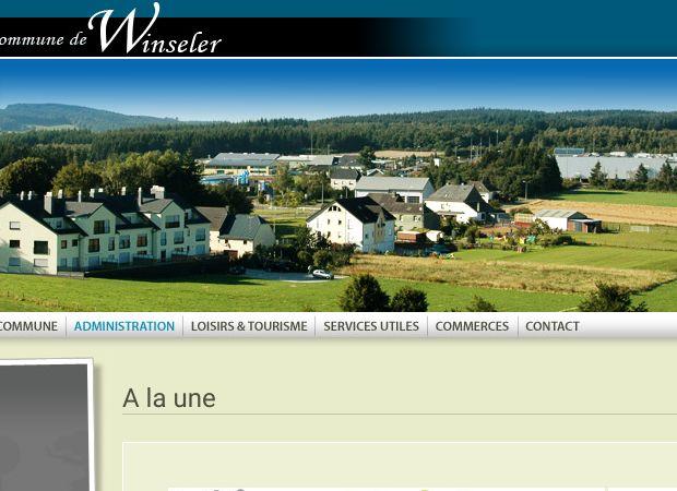 Screenshot: Homepage Gemeinde Winseler