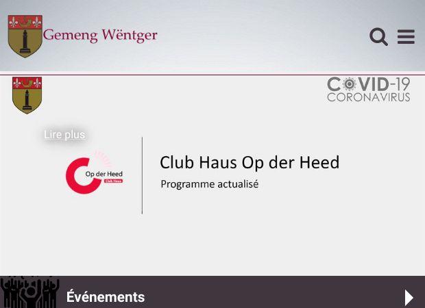 Screenshot: Homepage Gemeinde Wintger